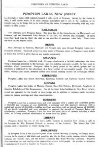 Pompton Lakes 1929 directory
