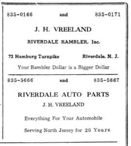1965 Ad for Riverdale Rambler, 1965