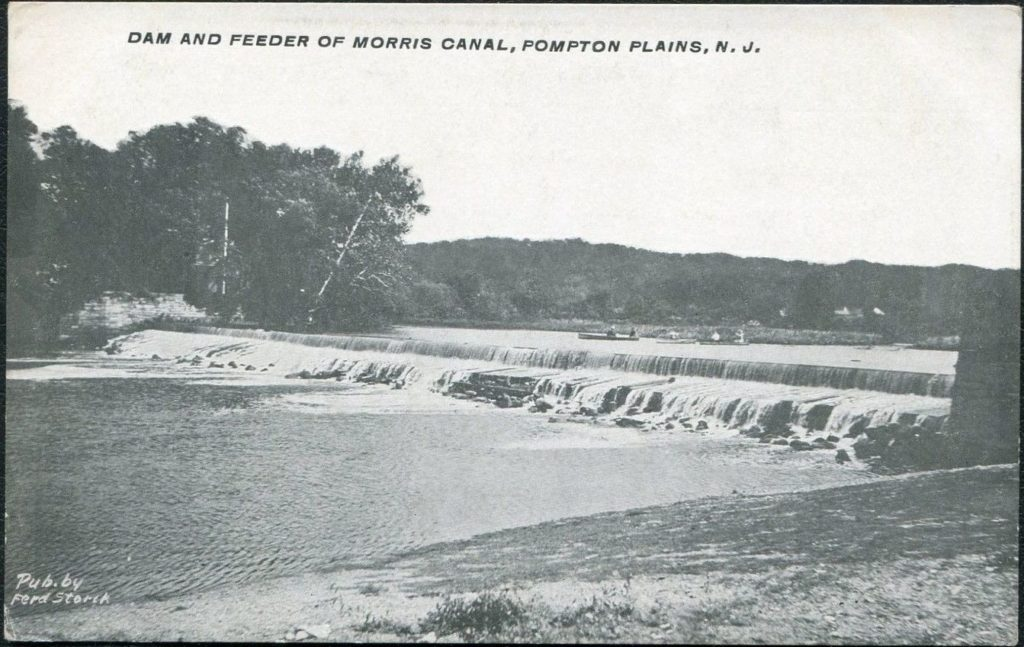 Photo of the Pompton feeder dam.