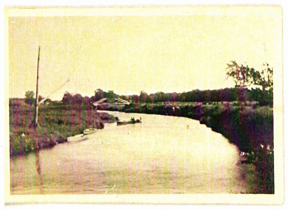Photo of people canoeing on the feeder canal.