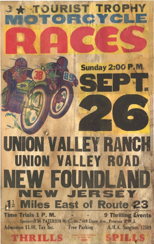 Poster for motorcycle races
