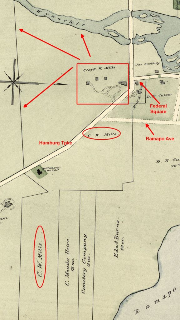 Map of C.W. Mills property