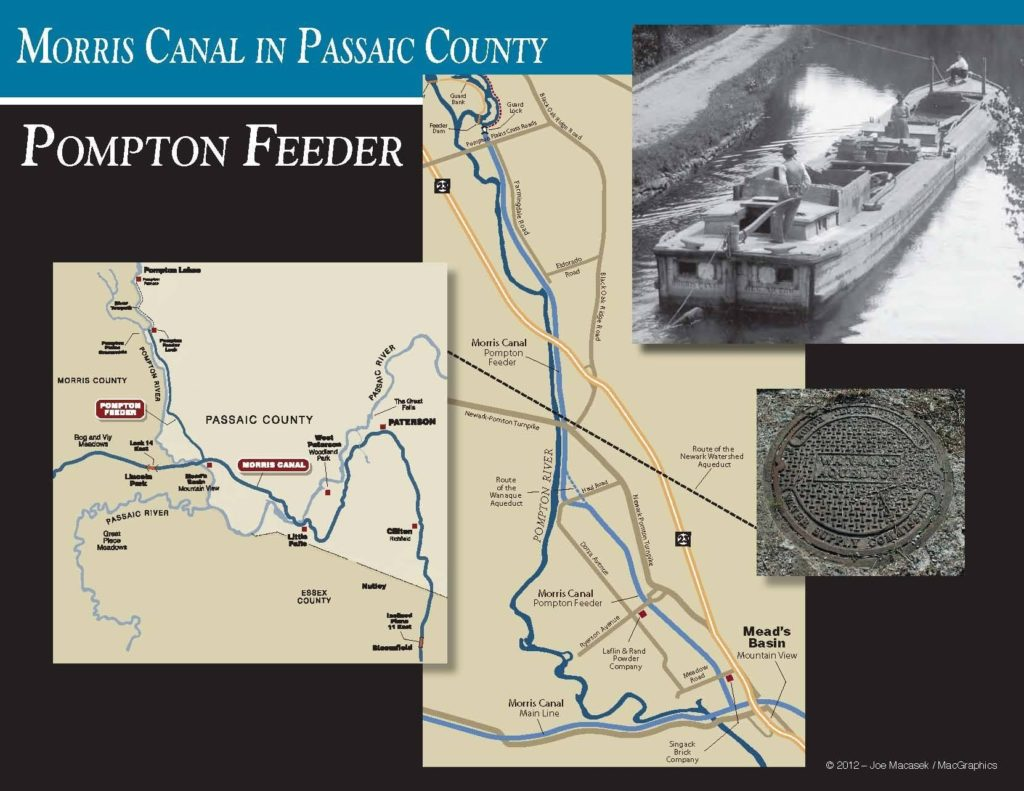 Map of the Pompton feeder canal